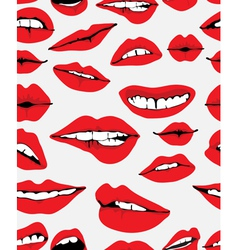 seamless lips backgound vector image