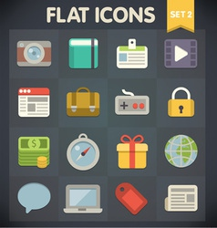 Universal Flat Icons for Applications vector image vector image