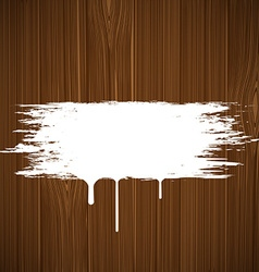 White paint on a wooden surface image vector image