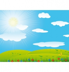 hilly landscape vector image vector image