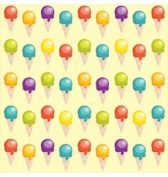 ice-cream background vector image vector image