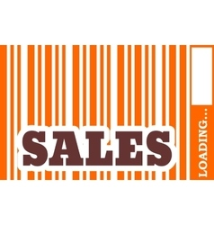 Sales word build in bar code vector image vector image