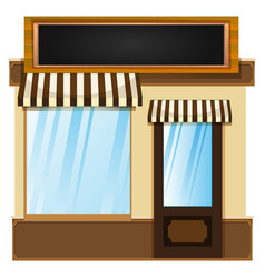 shop design with glass window vector image vector image