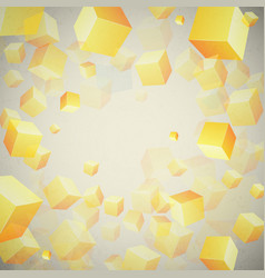 abstract cubes set background vector image vector image