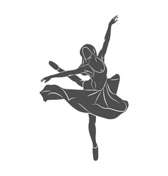ballerin dancer abstract vector image