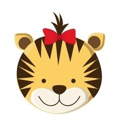 Cute tiger cartoon vector