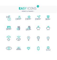 easy icons 11e money vector image vector image