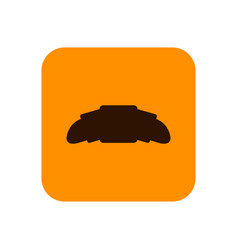 fast food croissant flat silhouette icon or vector image