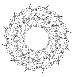 Hand drawn circle background vector