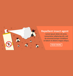 repellent insect agent banner horizontal concept vector image