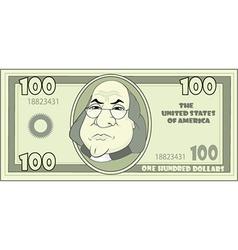100 cartoon American dollar vector