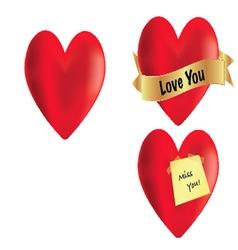 3 Hearts vector