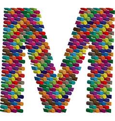 3d font letter M vector image