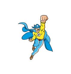 a cartoon comic super hero vector image