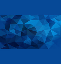 Abstract irregular polygonal background royal blue vector