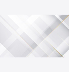 abstract white and grey geometric background vector image