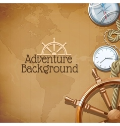 adventure map background vector image