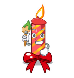 Artist character christmas decoration with vector