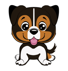Australian shepherd cartoon vector