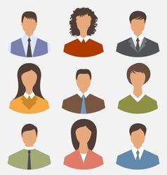 Avatar set front portrait office employee business vector