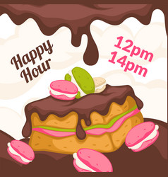 bakery shop happy hour price reduction in cafe vector image