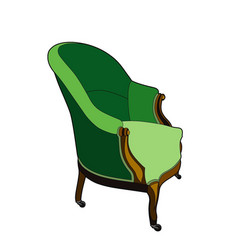 Big green chair vector