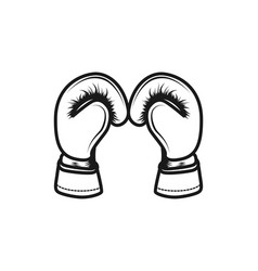 boxing gloves logo inspiration isolated on white vector image