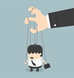 Businessmen marionette vector