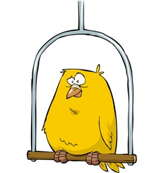 canary in pole vector image