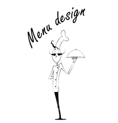 cartoon chef isolated over white background vector image