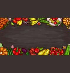 Cartoon of various vegetables vector
