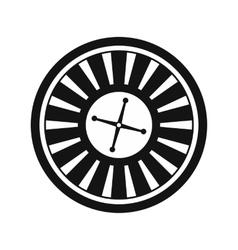 Casino symbol roulette icon vector