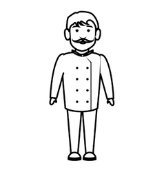 chef character isolated icon vector image