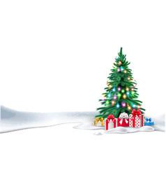 christmas tree xmas new year design vector image