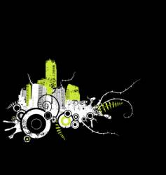 city grunge design vector image