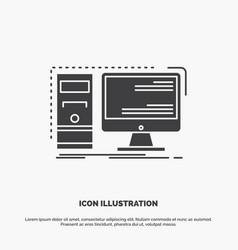 Computer desktop hardware workstation system icon vector