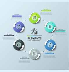 Creative infographic design layout round diagram vector