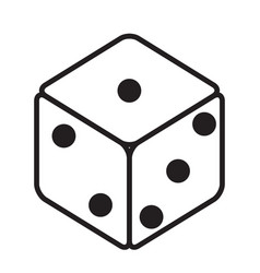 dice icon black dice cubes on white background vector image
