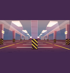 Empty underground car parking vector