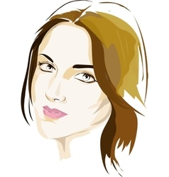 Female portrait in colour vector image