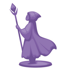 Figurine magician or wizard wandering with wand vector
