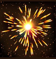 firework bursting sparkle background symbol vector image