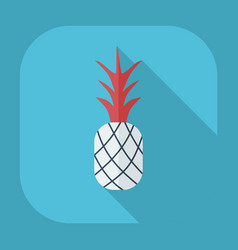 Flat modern design with shadow icons pineapple vector