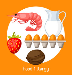 food allergy for medical vector image