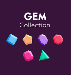 gems icon gems ruby erald brilliant collection vector image