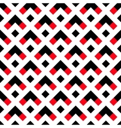 Geometric White Black Red Arrow Pattern vector