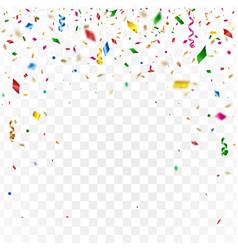 Gold confetti celebration background vector
