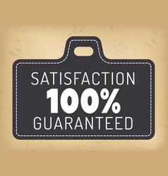 Guarantee logotype 100 percent satisfaction vector