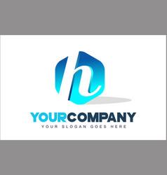 h letter logo hexagon shape modern design vector image vector image