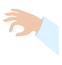 hand take icon flat style vector image